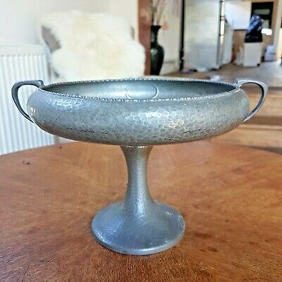 Arts and Crafts Arundel  Tudric style Pewter  Hammered Fruit Bowl