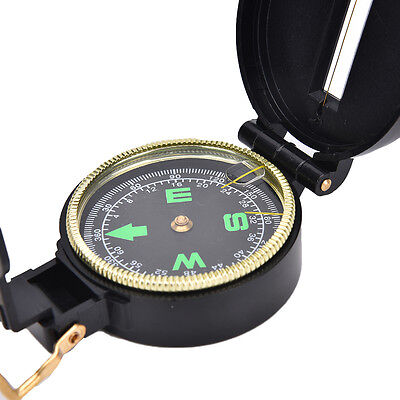 Metal Lensatic Compass Military Camping Hiking Style Survival Marching _TI