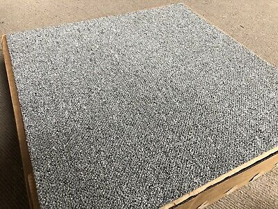 20 x Grey Carpet Tiles 5m2 Box Heavy Duty Commercial Retail Office