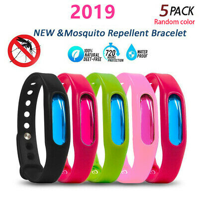 5Pcs Anti Mosquito Bug Insects Repellent Wrist Band Protection Bracelets