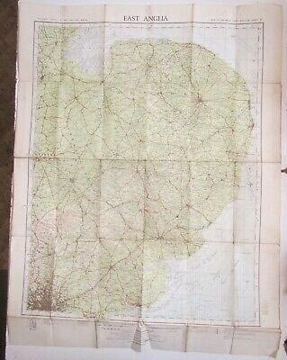 Old Ordnance Survey Map of 'East Anglia' England - 1932