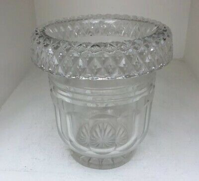 Quality Roll Top Antique Cut Glass Mixing Bowl For An Antique Tea Caddy