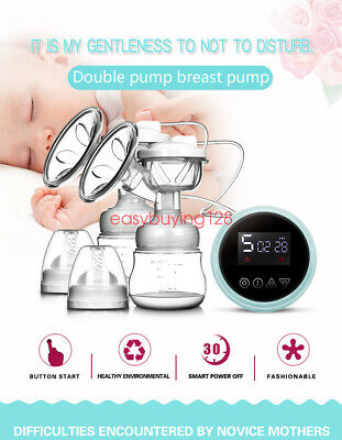 Touch Screen Double Electric Breast Pump Baby Feed Milk Bottle Suction Extractor