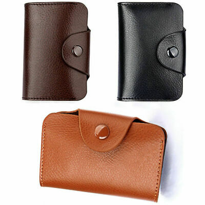 Unisex PU Leather Mini Pocket Business ID Credit Card Holder Case Wallet Purse