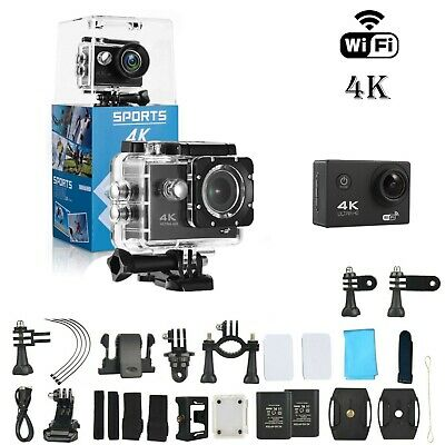 Ultra 4K WiFi Waterproof DV Action Sports Go Pro Underwater Camcorder Camera Cam