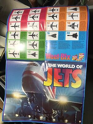 """Vintage Weet-bix  Cards Poster """"The World Of Jets"""" Free Post"""