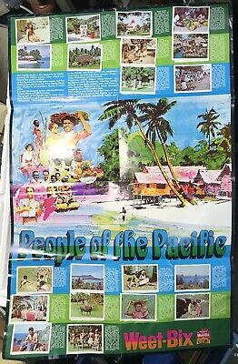 """Vintage Weet-bix  Cards Poster & Cards """"People Of The Pacific """" Free Post"""