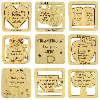 Personalised Coaster, Teacher/Teaching Assistant Nursery Thank Gift Male Female