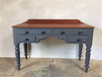 Antique painted Victorian desk, dressing table, hall table. DELIVERY AVAILABLE