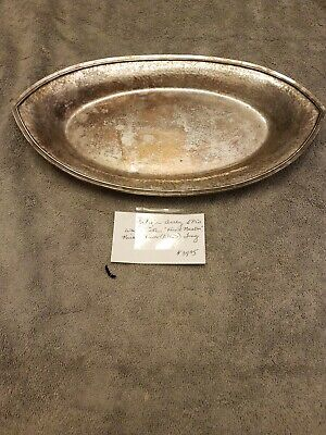 Antique Dirt Derby S P Co hand Beaten Nickel Silver Epns Tray. W.M.MOUNTS