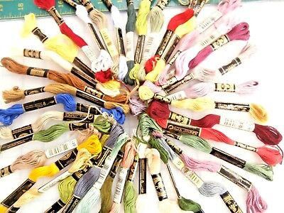 """25 SKEINS 6 STRAND DMC EMBROIDERY FLOSS """"I PICK ALL different{25} COLORS"""""""