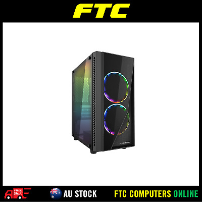 Casecom Gamming XM-91 Front & Side Transparent Temper glass  Micro ATX with no P