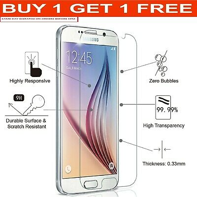 For Samsung Galaxy S6 Real Tempered Glass Screen Protector Original Gorilla UK