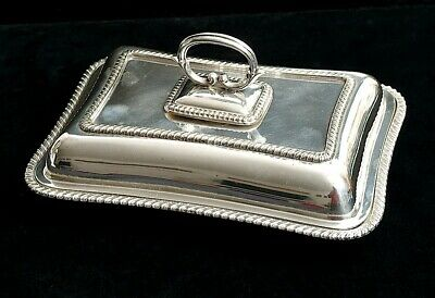 Antique Fenton Brothers Silver Plated Serving Dish With Lid