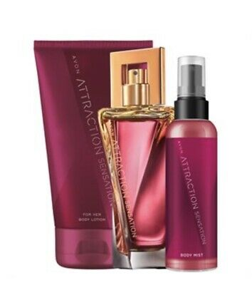 62972af9352a8e SET AVON 50 ml ATTRACTION SENSATION FOR HER FÜR SIE EAU DE PARFÜM SPRAY