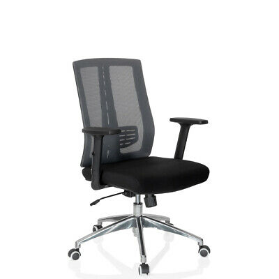Office Chair Swivel Chair Black Mesh Fabric High Back Armrests VERSUS hjh OFFICE