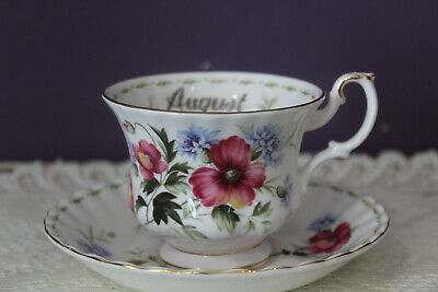 Royal Albert Flower Of The Month - August Poppy - Tea Cup And Saucer