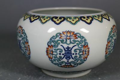 beautiful chinese dou-cai porcelain small tray for washing brushes