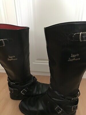 Vintage Lewis Leather Motorbike Boots Size 8
