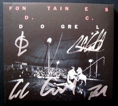 Fontaines Dc 'Dogrel' 2019 Limited Edition Fully Signed Cd Album Lp
