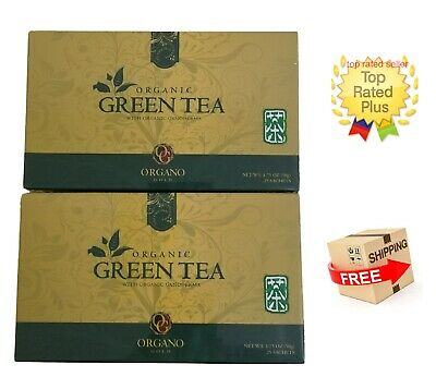 2 Cajas Organo Gold Green Tea With Ganoderma Lucidum - Expiry 02/2021 Tax Free