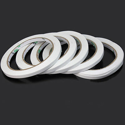 ITS- 5 Rolls of 6mm Double Sided Super Strong Adhesive Tape for DIY Craft Brand