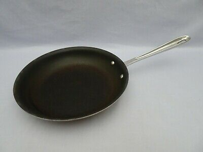 "All-Clad AllClad 10"" Stainless Steel non stick Fry Skillet Pan Used AS IS"