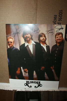 Vintage Alabama Band Photo Autographed Teddy Genrty Jeff Cook Randy Owen Mark