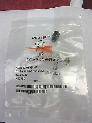 New Deutsch Asu602-06Sd-He 6 Way Bulkhead Plug Connector