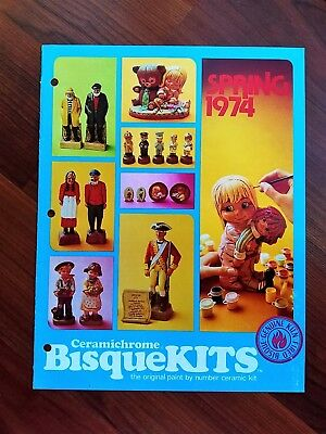 1974 Ceramichrome BisqueKits Catalog Wee Animals Julies Laurel and Hardy