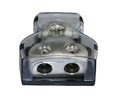 APS Power Ground Distribution Block 1X4GA In 2X8GA Out Car Audio SKPD-04G