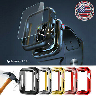 For Apple Watch 4 3 2 1 Full Case Cover Screen Protector iWatch 38/42mm 40/44mm