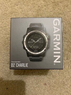 cb4320cd6 New Garmin D2 Charlie Aviation Pilot Watch w/ Titanium Strap 010-01733-32