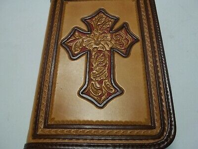 379# BIBLE COVER IN LIGHT WALNUT, HOLDS BIBLE OF 9 1/2 X 6 5/8 X 3 Inches