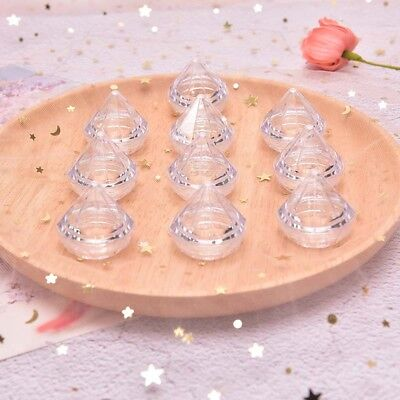 10Pcs/Set 5g Cosmetic Empty Jar Pot Diamond Cream Box Face Cream Container ML