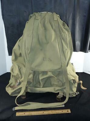 1943 WW2 US Army Military Field Backpack Rucksack Canvas Bag w/ Frame WWII