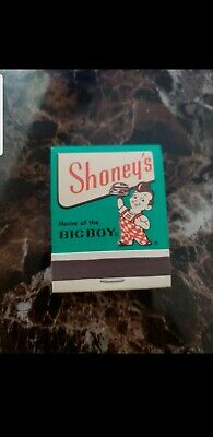 Bob's Big Boy Shoneys Restaurant  Matches Matchbook Unused Vintage - Rare-