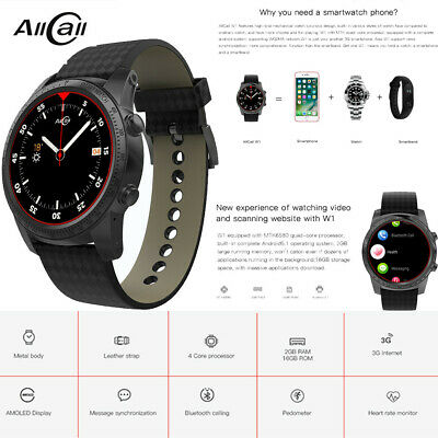 ALLCALL W1 SMART Watch Phone Android OS 2GB+16GB Bluetooth