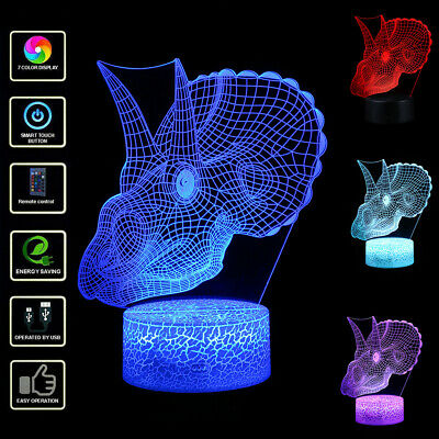 Faucet LED 3D Illuminated Lamp Optical Desk Night Light With 7 Colors Changing