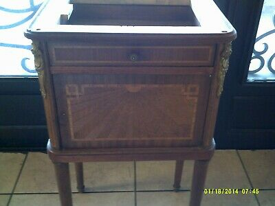Antique French Cabinet Marquetry Gilt Bronze Mounts your choice of marble