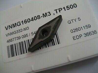 5 x VNMG160408-M3 (VNMG 332-M3) TP1500 SECO SOLID CARBIDE TURNING INSERTS #151
