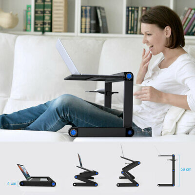 Adjustable Folding Laptop Stand Aluminum Computer Tablet Holder Tray Bed Desk AU
