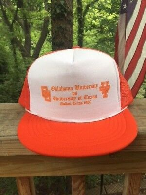 Vintage Oklahoma University Sooners vs University Texas Longhorns 1980 Hat Cap