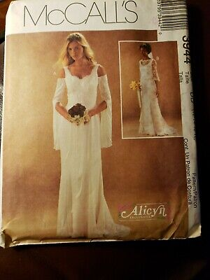 McCall's Alicyn Bridal Gown Dress Lace Sleeve Pattern Uncut 3944 Size 12-18