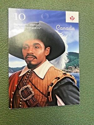 Canadian Stamps - MATHIEU DECOSTA booklet of 10 PERMANENT STAMPS *NEW*