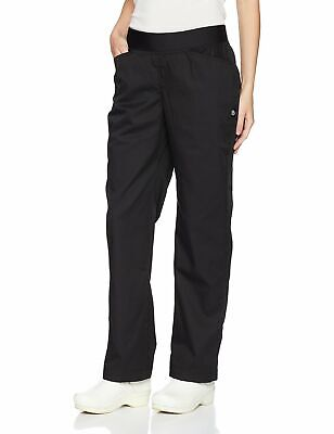 Chef Works Womens Black US Size Large L Work Pull On Drawstring Pants $45 906