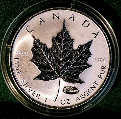 2000 CANADA $5 EXPO Hannover Privy Mark Silver Maple Leaf 1 oz Reverse proof