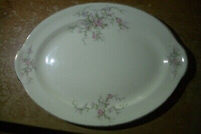 Taylor Smith Taylor China #6481 Serving Platter-floral-pink-entertaining-dining