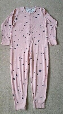M&S Girls Lovely Pair Of Cotton pyjamas one piece  In Vgc As Shown Age 5-6yrs