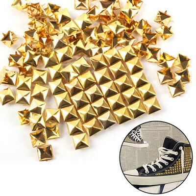 100 Pcs/lot Accessory Square Rivet Studs Pyramid Spikes Garment Four Claw